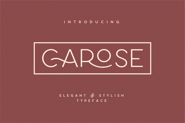 Carose Sans- 6 Elegant Typeface example image 1