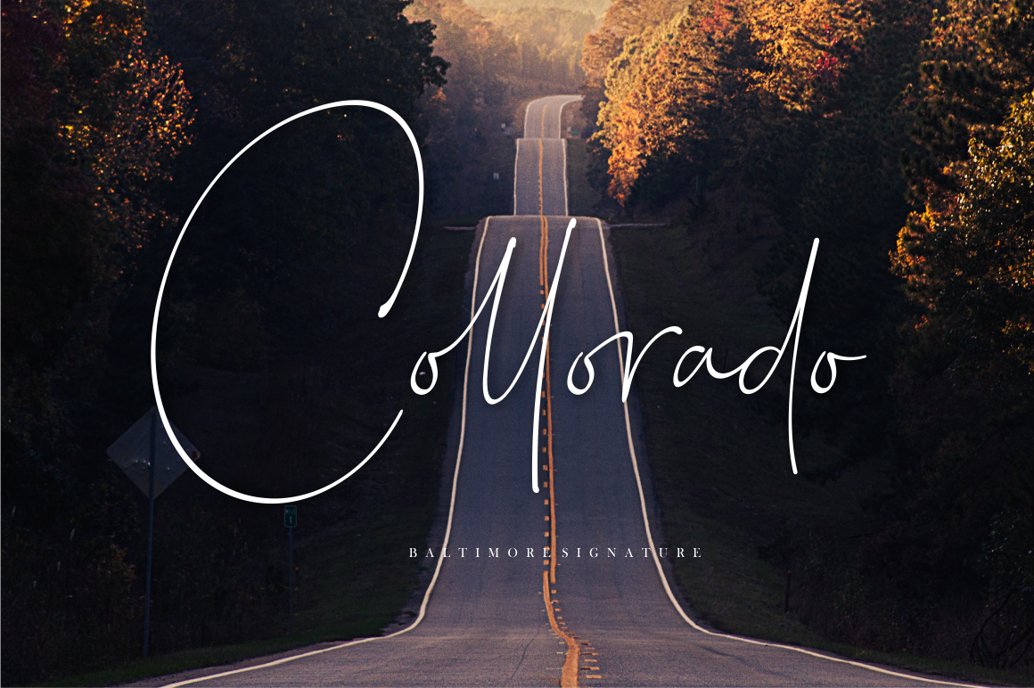 Baltimore // Straight Signature Font example image 3