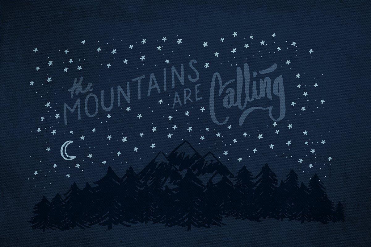 Adventure Lettering Illustrations example image 4