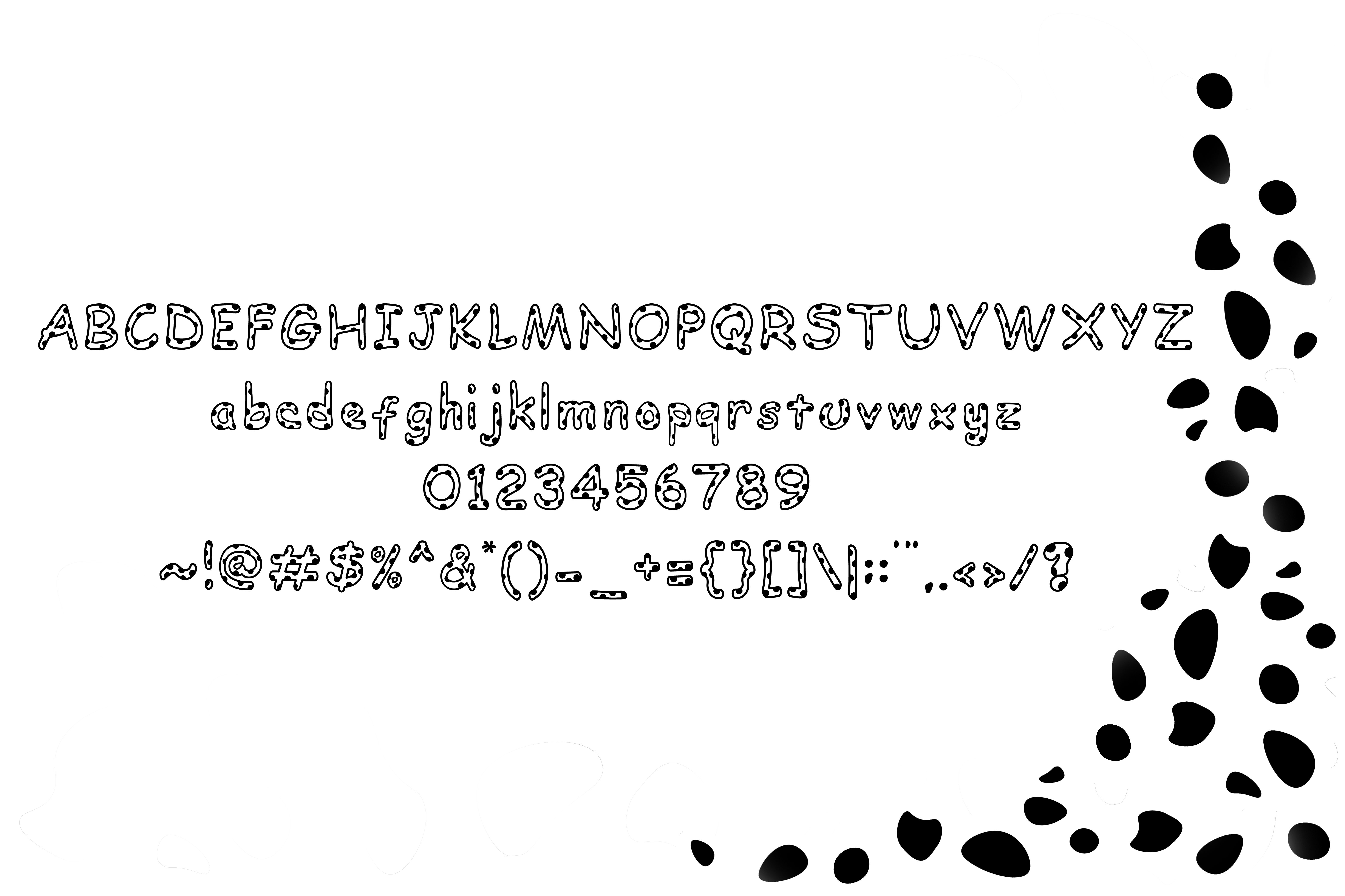 Dalmatian: A Spotted Font example image 4