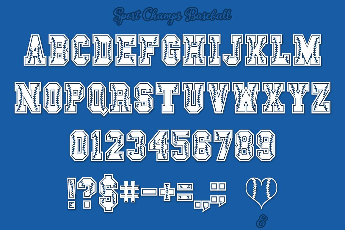 Baseball Font   Softball Font example image 2