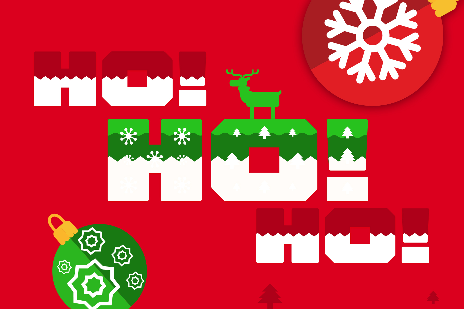 Ogra Clause Layered Christmas Font example image 3
