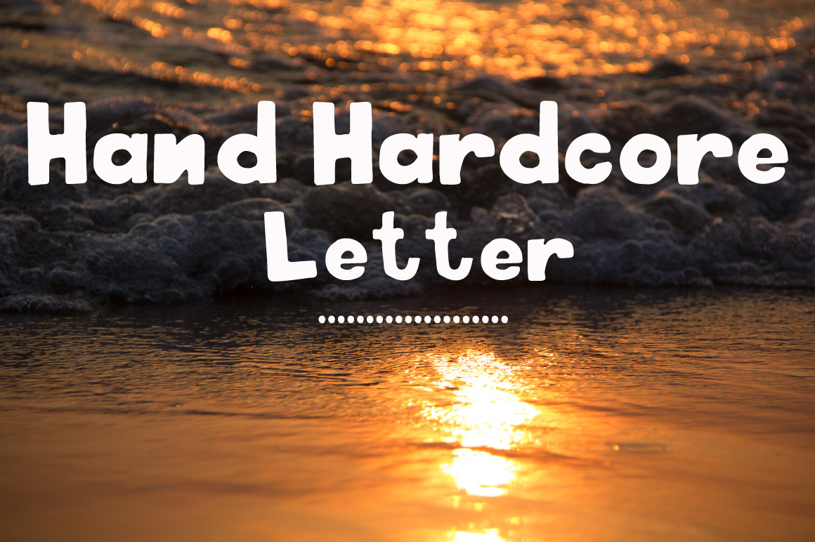 Hand hardcore letter example image 1
