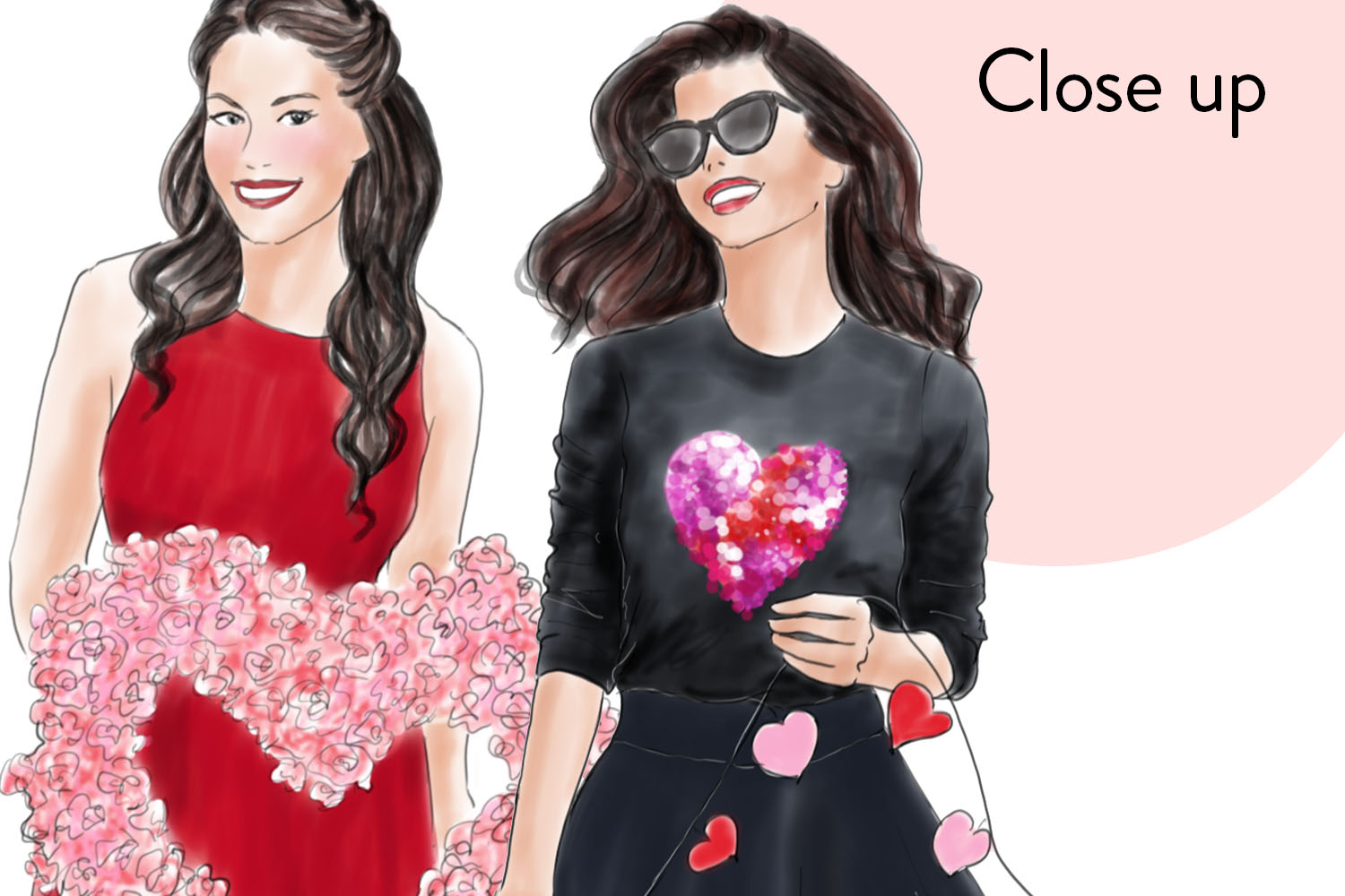 Valentine girls fashion clipart example image 2