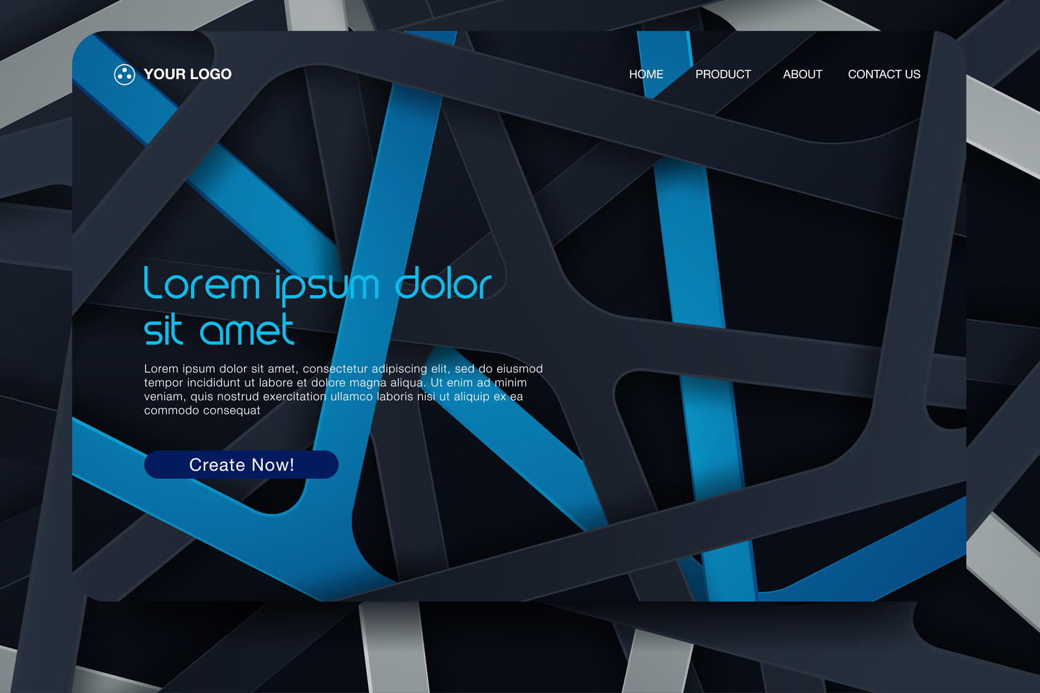 20 - Abstract background design. Landing page template example image 13