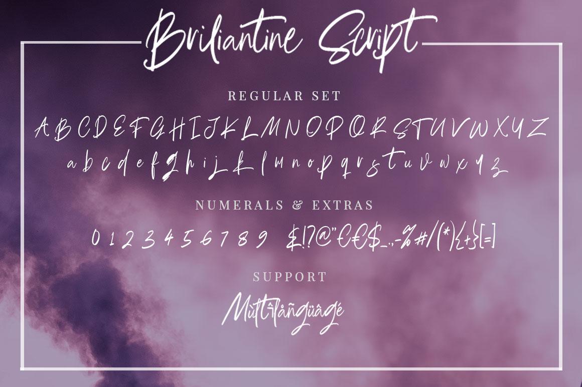 Briliantine Script example image 22