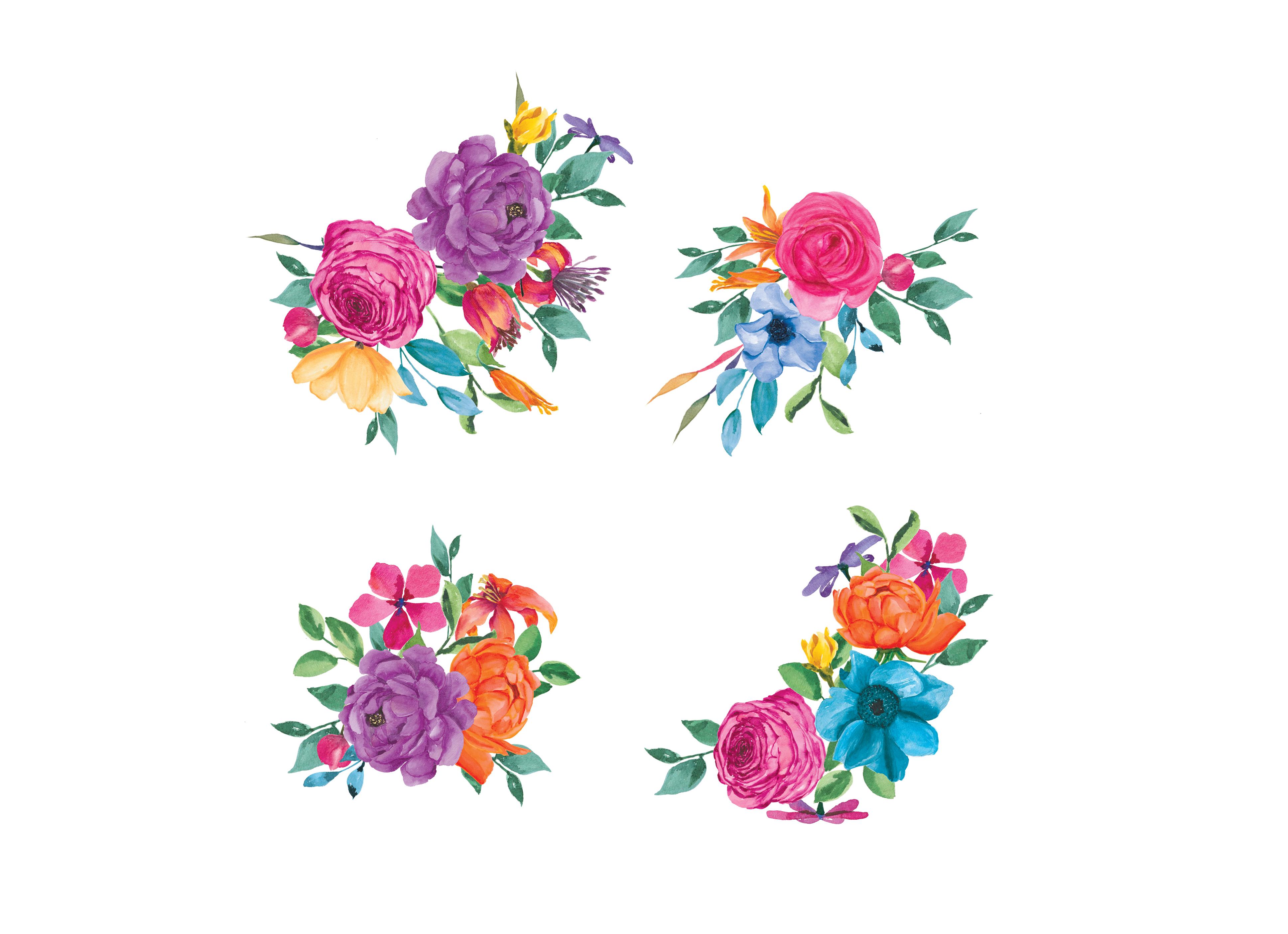 watercolor fiesta floral clipart by pa design bundles rh designbundles net floral clip art borders floral clipart transparent