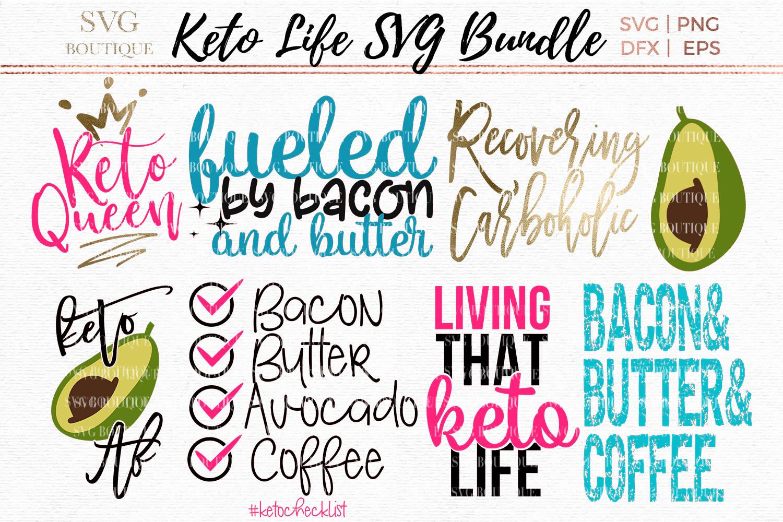 Keto SVG Bundle - Keto Diet Quotes - SVG PNG DFX example image 1