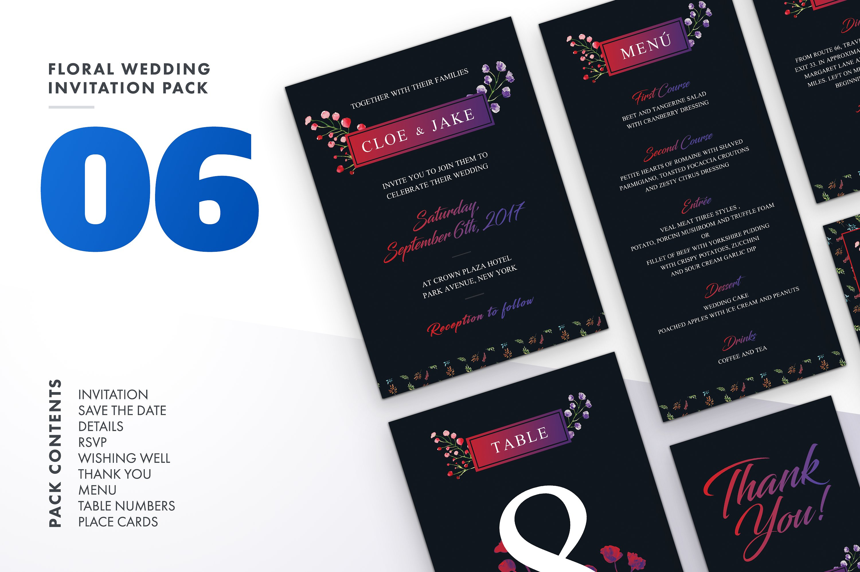 Floral Wedding Invitation Bundle example image 2