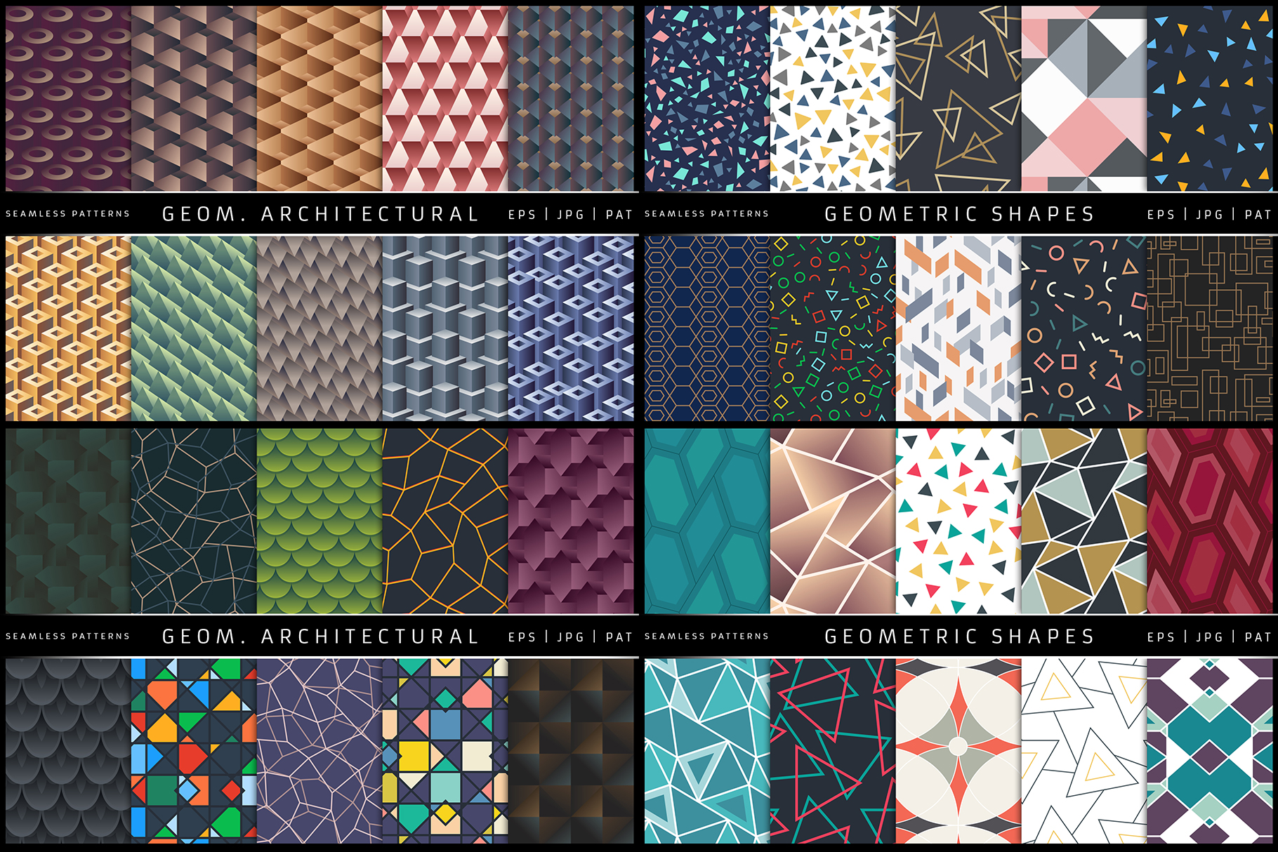 100 Seamless Patterns Vol.1 example image 5