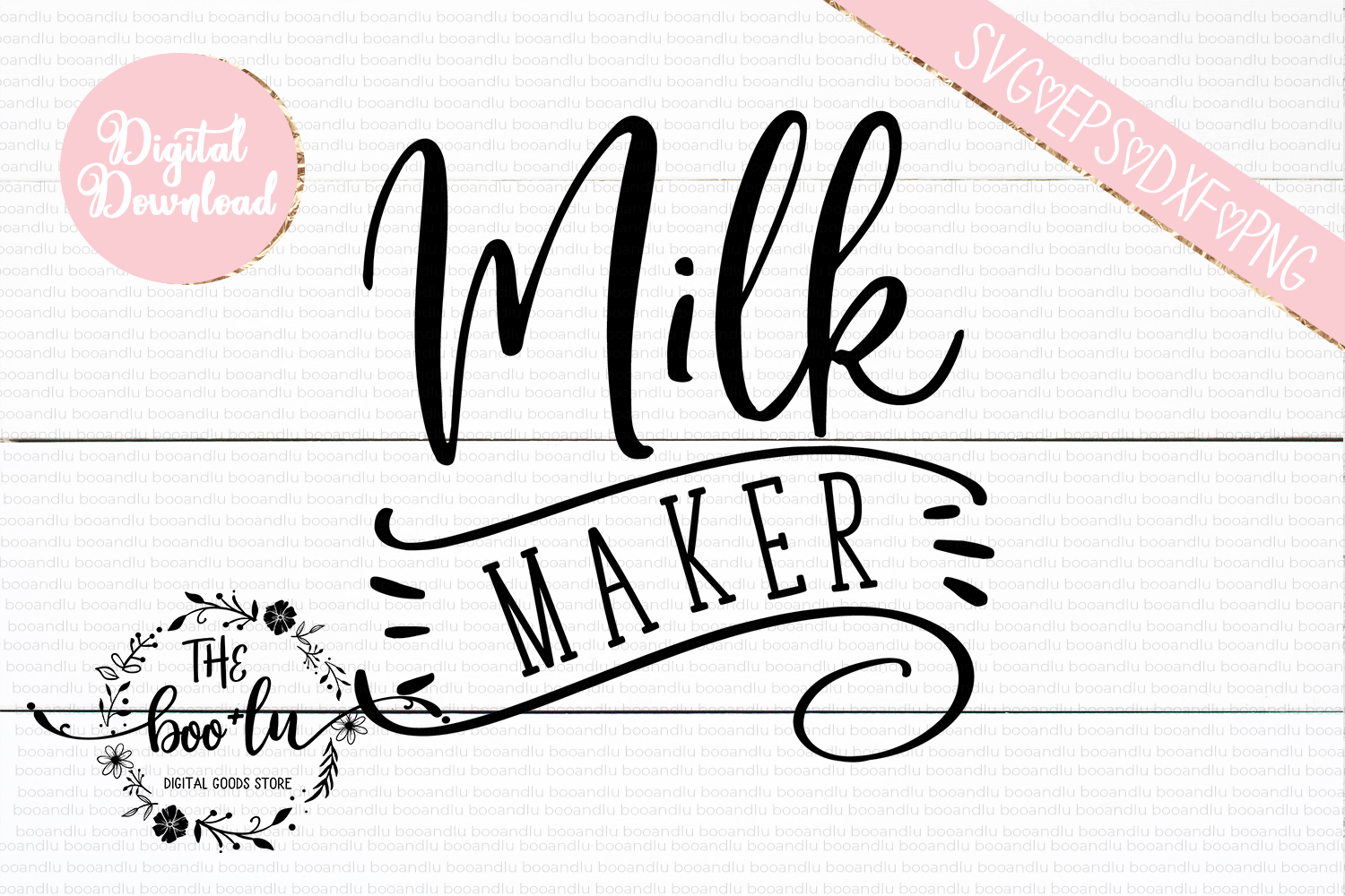 Milk Maker SVG DXF PNG EPS Cutting Files example image 2