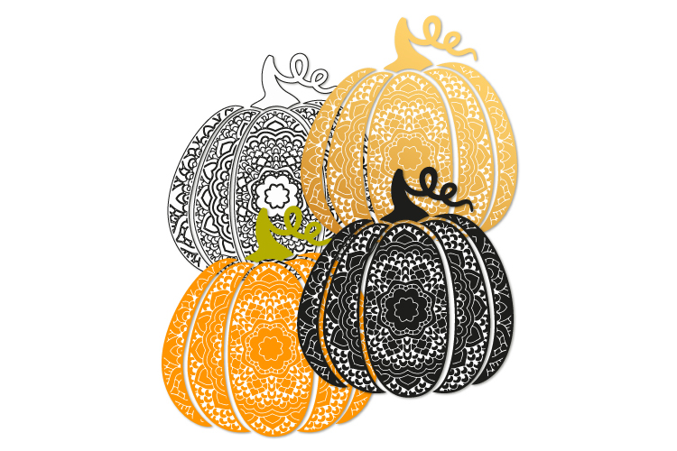 Fancy pumpkin svg. Swirl pumpkin example image 2
