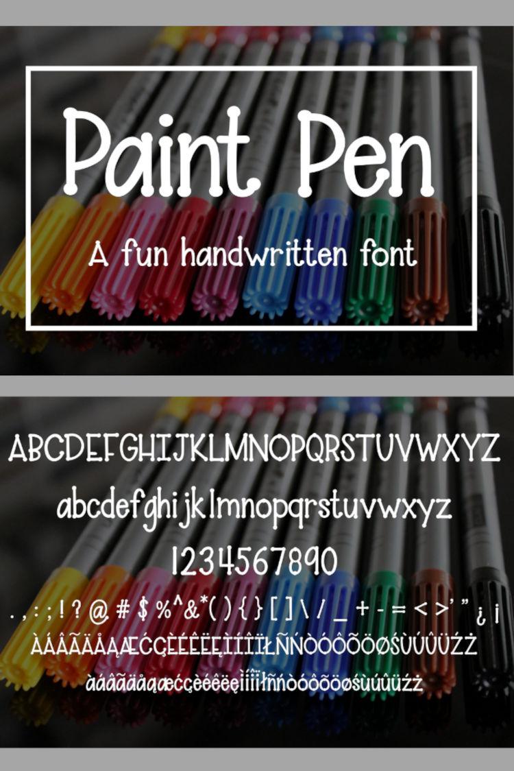 Paint Pen - A fun handwritten font example image 9