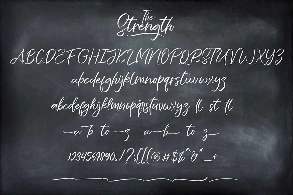 The Strength - A Branding Script example image 11