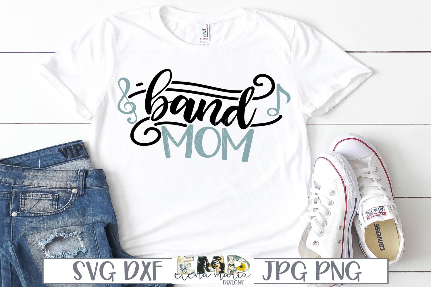 Band Mom Svg | Music Notes Svg example image 2