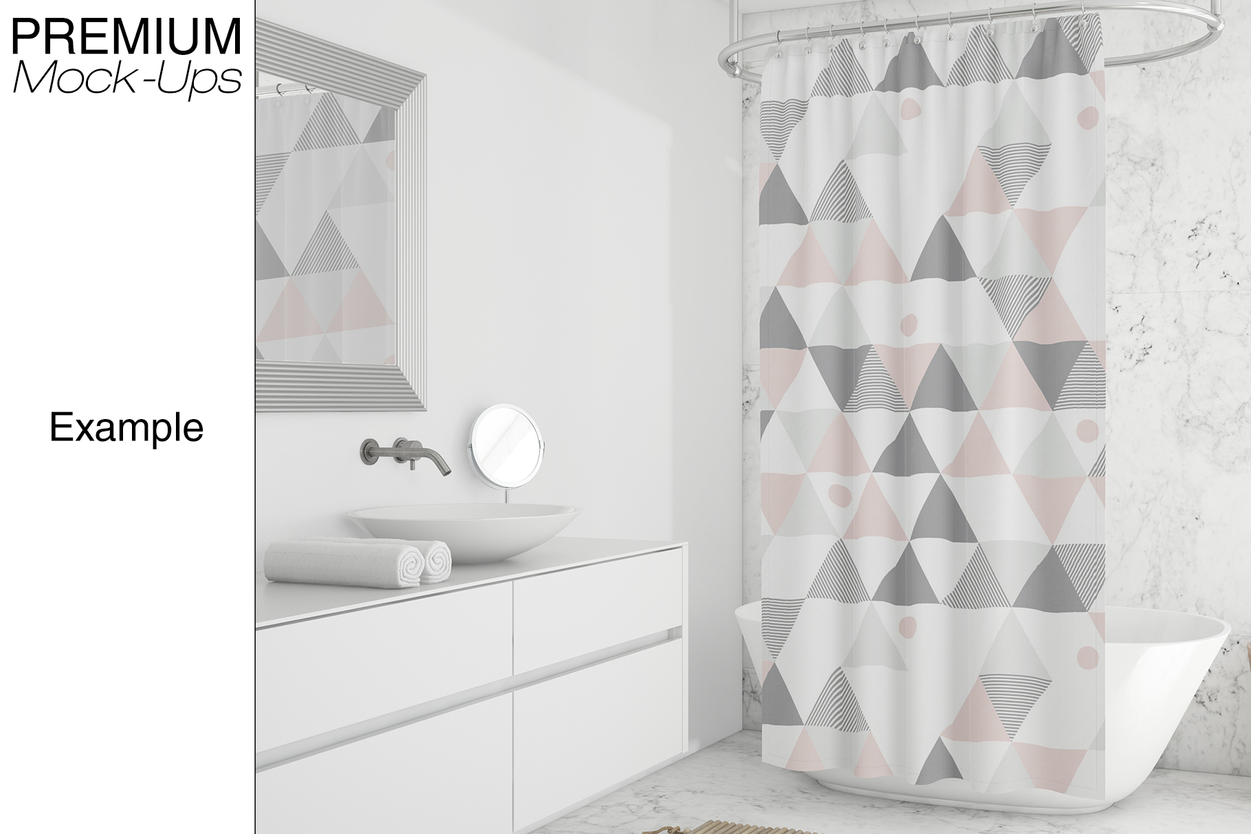 Shower Curtain Mockup Pack example image 8