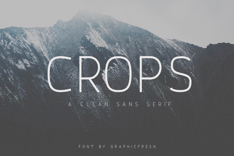 Crops - A Clean Sans Serif example image 1