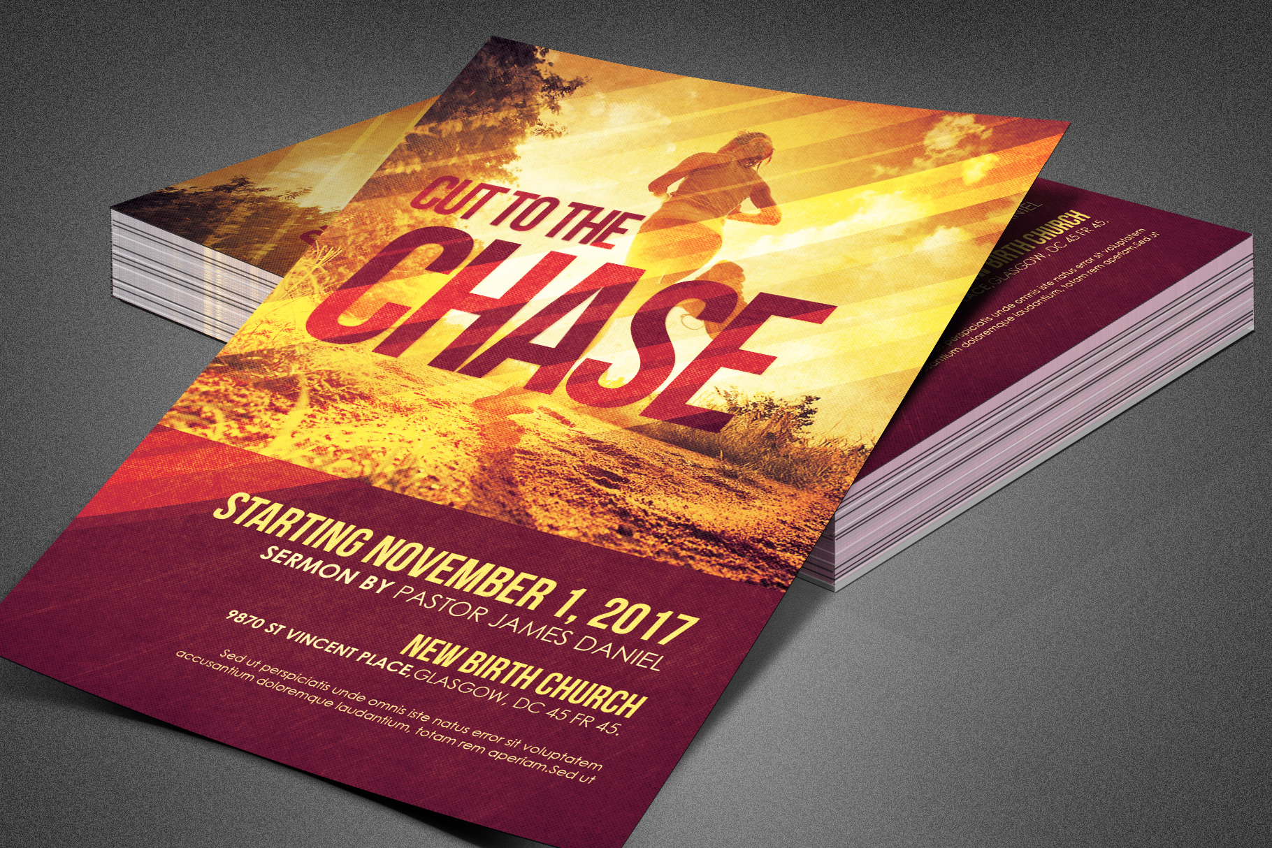 Cut to the Chase Church Flyer example image 4