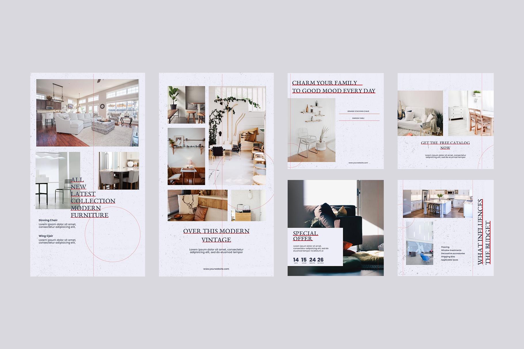 Interior Instagram Templates example image 8