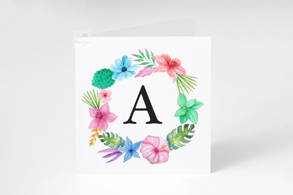 Square Greeting Card Mockup psd ivitation stationery mock up example image 3