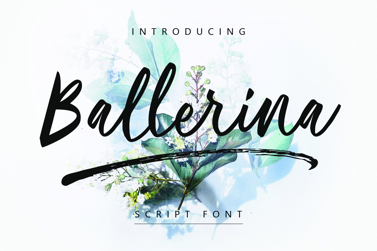 Ballerina| Script Font example image 1
