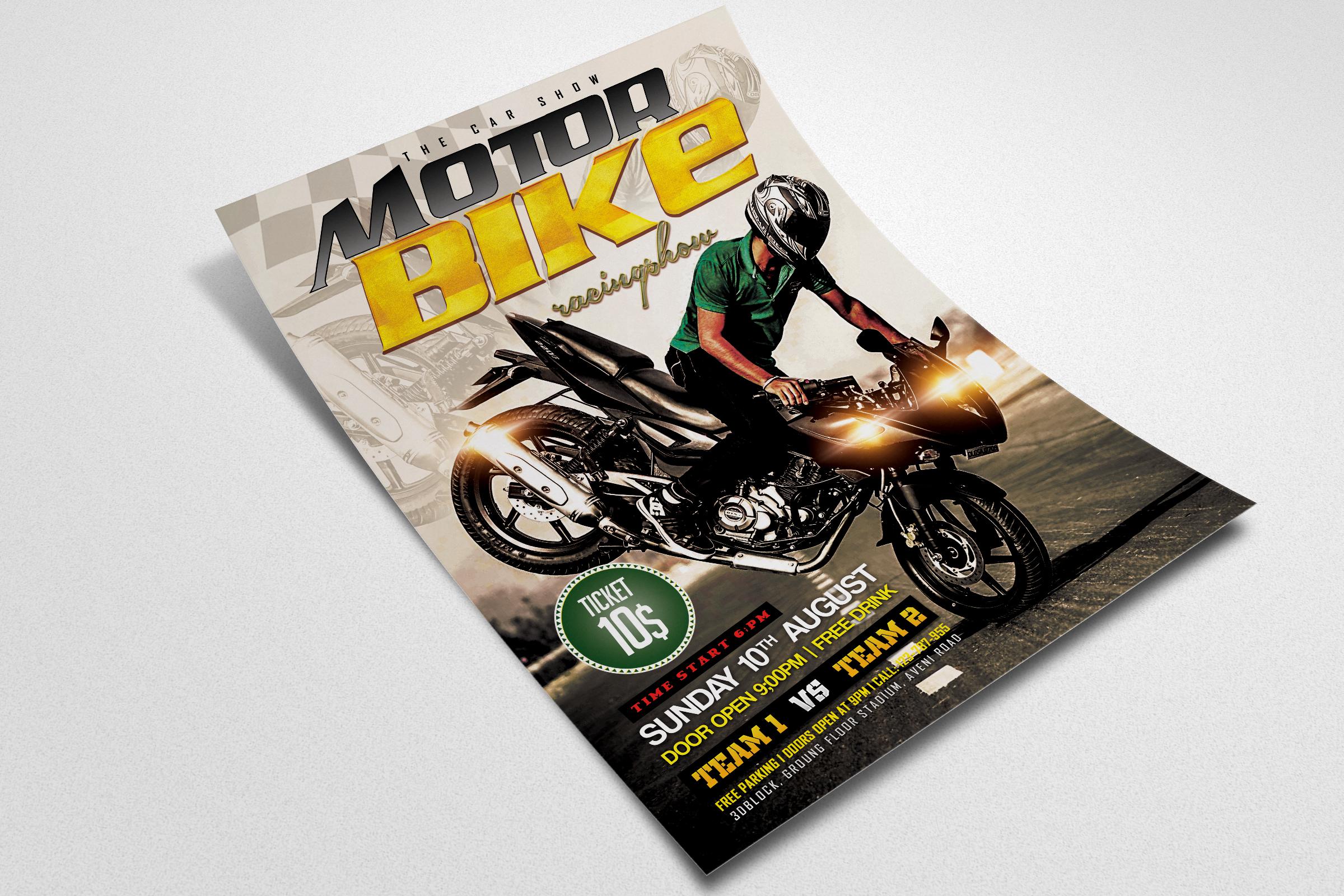 Bike Racing Flyer Template example image 2