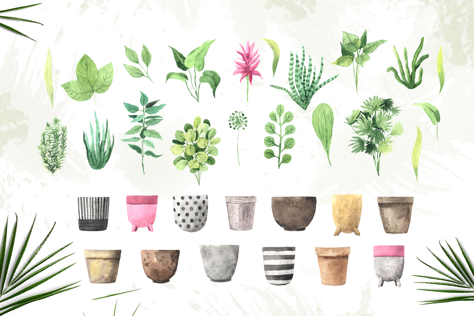 Watercolor House Plants Collection example image 3