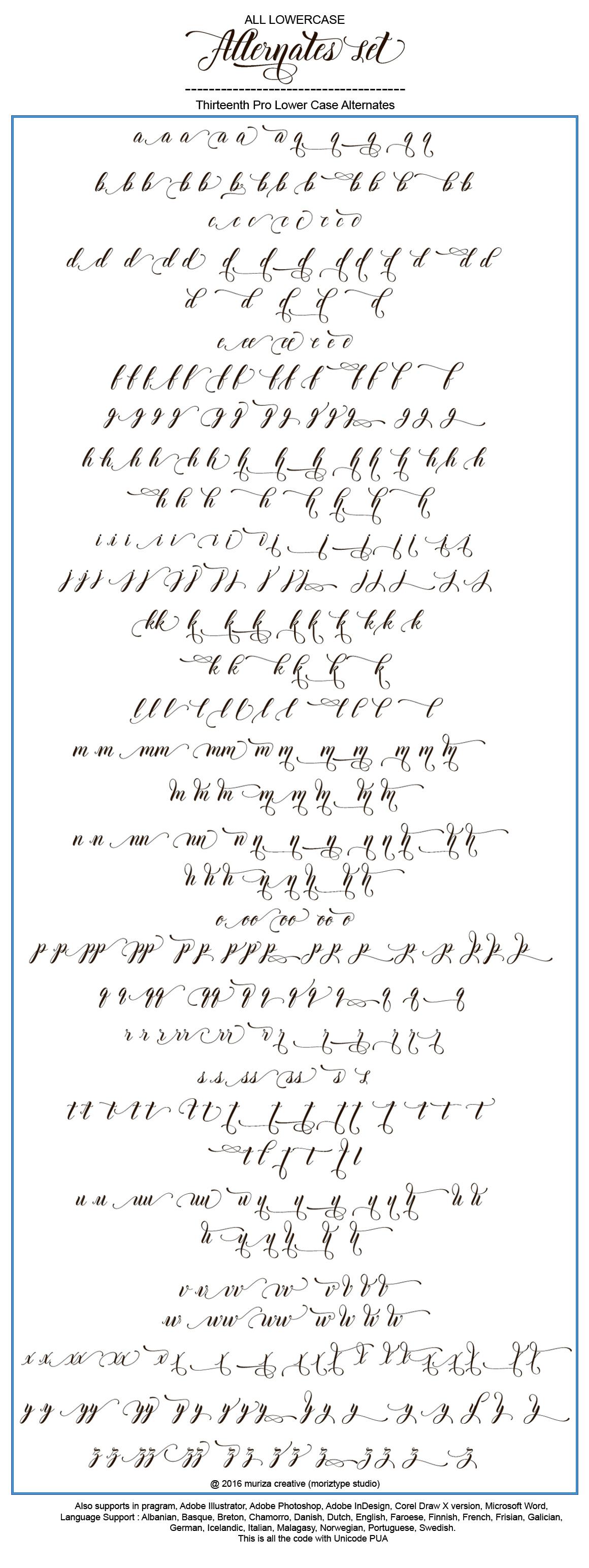 Thirteenth Script example image 11