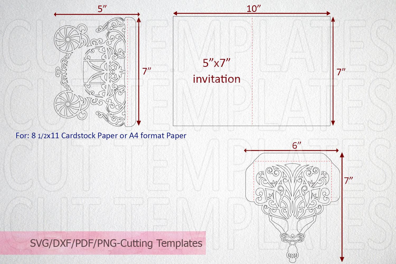 Princess Bride Trifold Wedding Invitation laser cut svg dxf example image 3