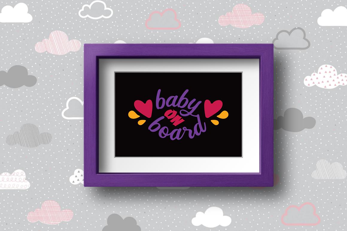 BUNDLE Pregnancy Announcement SVG Cut Files example image 2