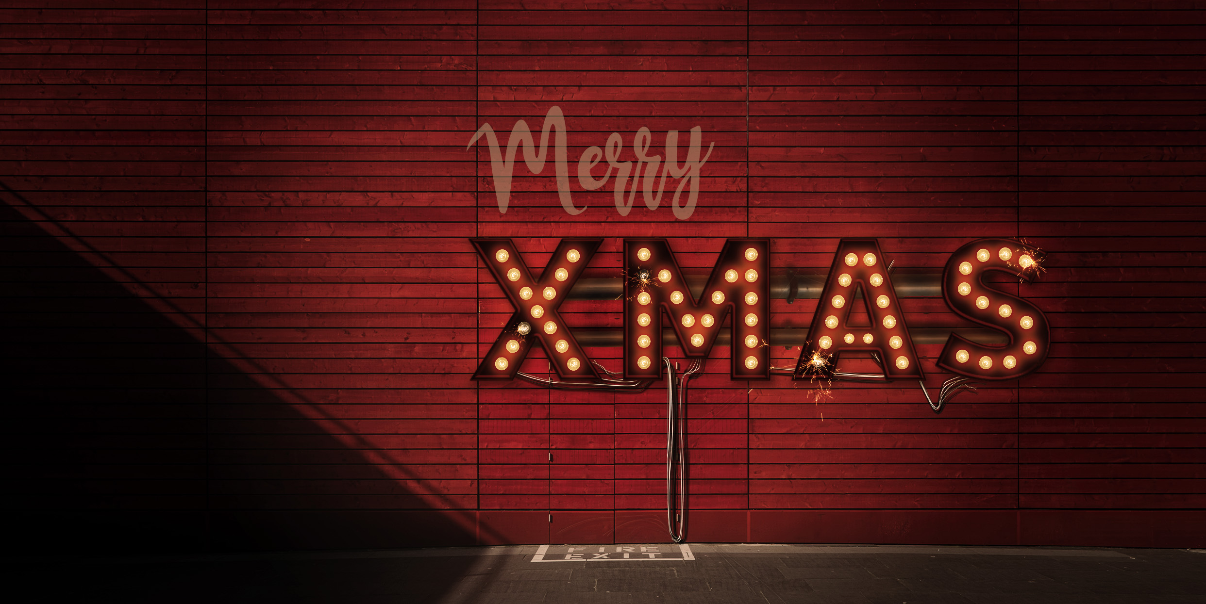 Lightbulb Merry Christmas Signs | 14-Image Bundle example image 5