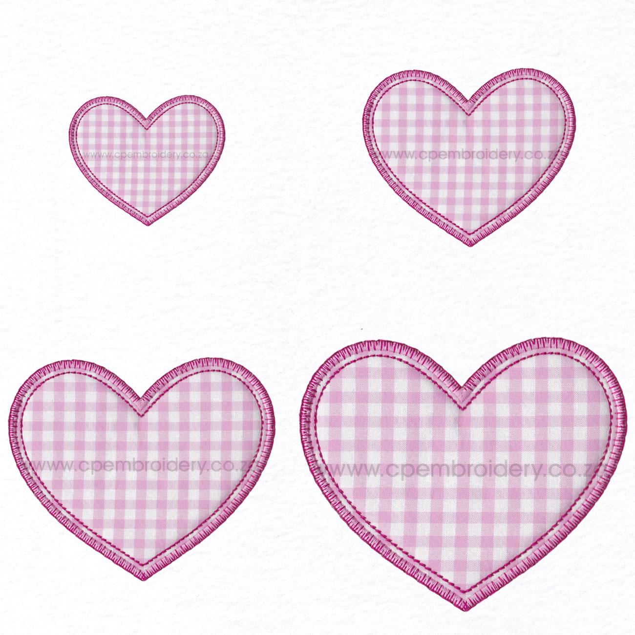 Simple Valentine Heart Applique Design