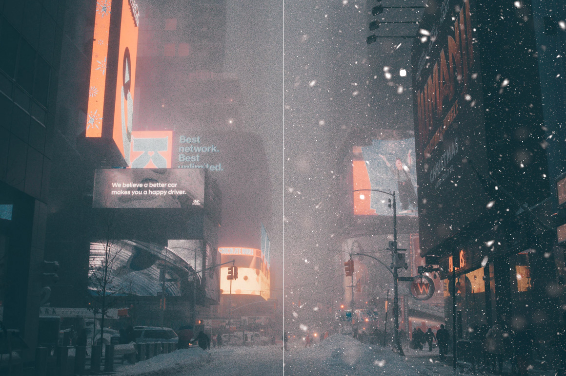 100 Snow Overlays example image 9