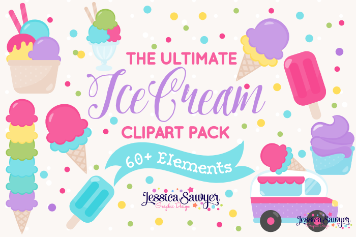 The Ultimate Ice Cream Clipart Pack example image 1