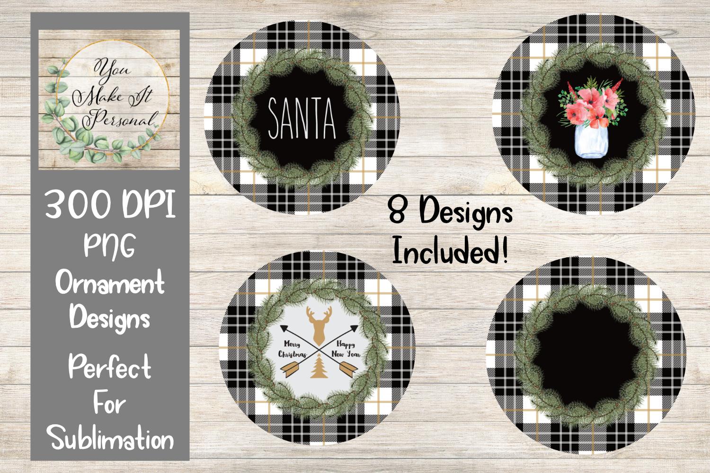 Farmhouse Christmas Ornament Bundle, Perfect for Sublimation example image 1