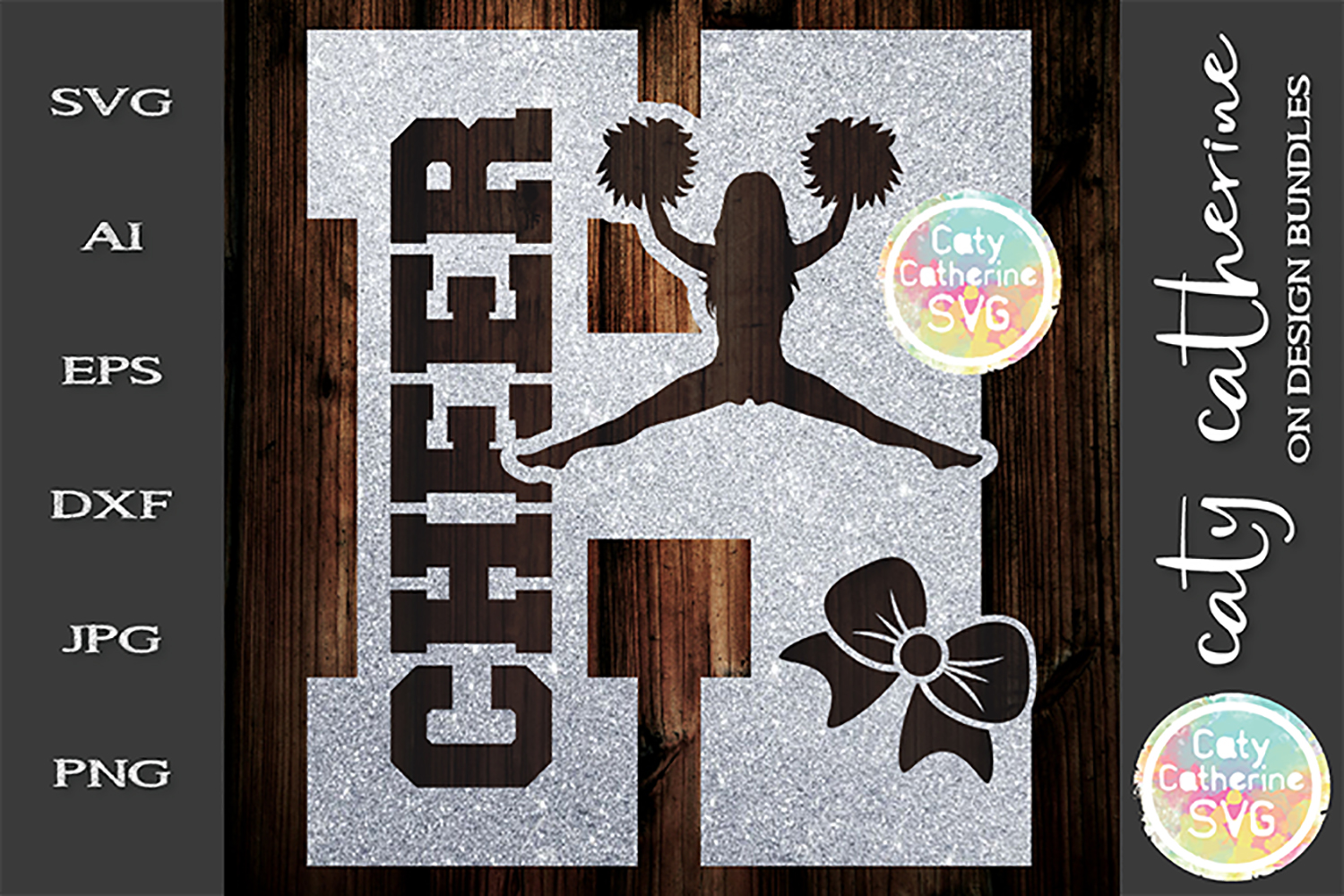 Letter H Cheerleading Monogram Letters SVG Cut File example image 1