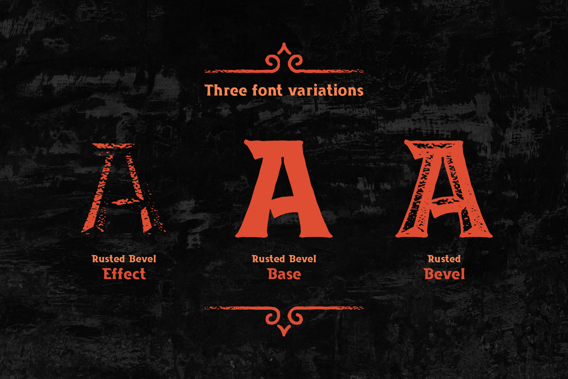 Rusted Bevel Typeface example image 2