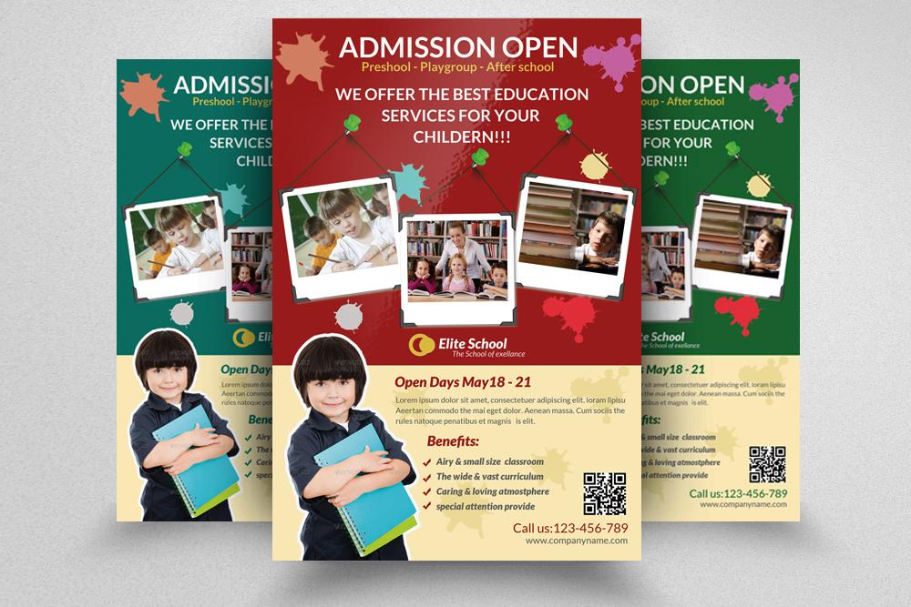 6 Kids School Education Flyers Bundle example image 5