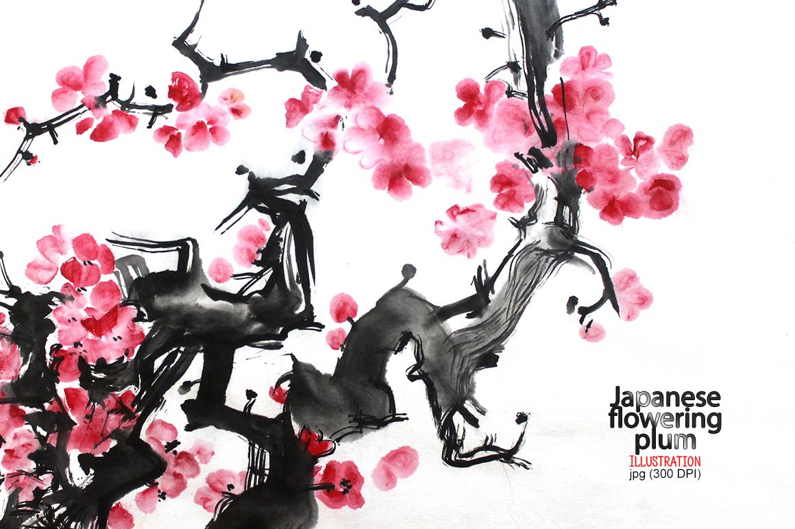 Japanese Ink flowering plum example image 1