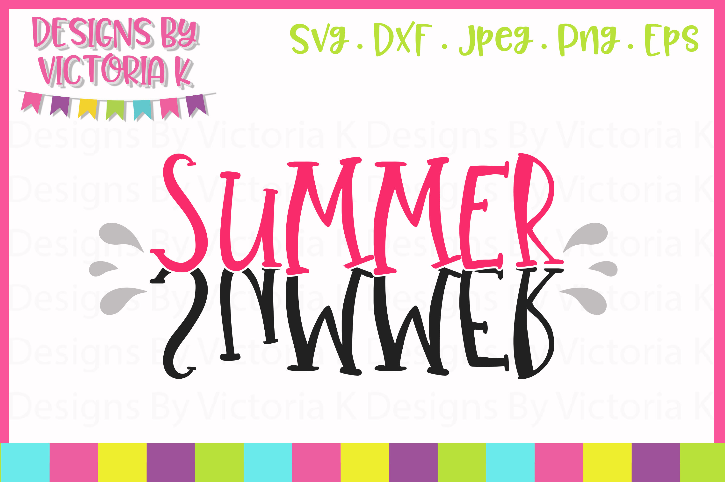 Summer SVG Cut File example image 1