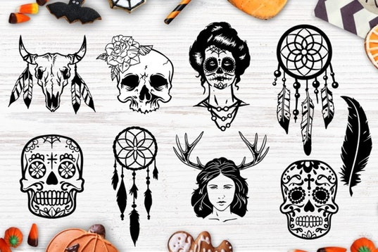 Halloween bundle 40 SVG , Eps, Dxf, Png for Cricu example image 2