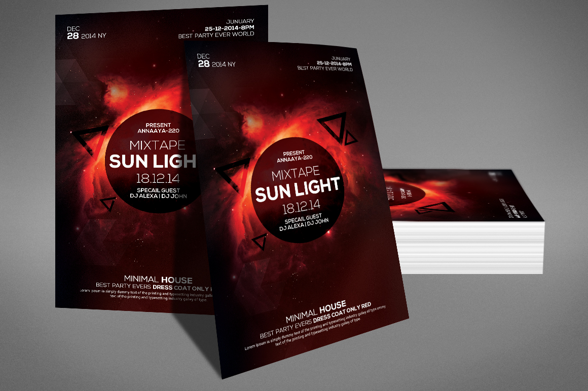 Minimal Sunlight House Flyer example image 3