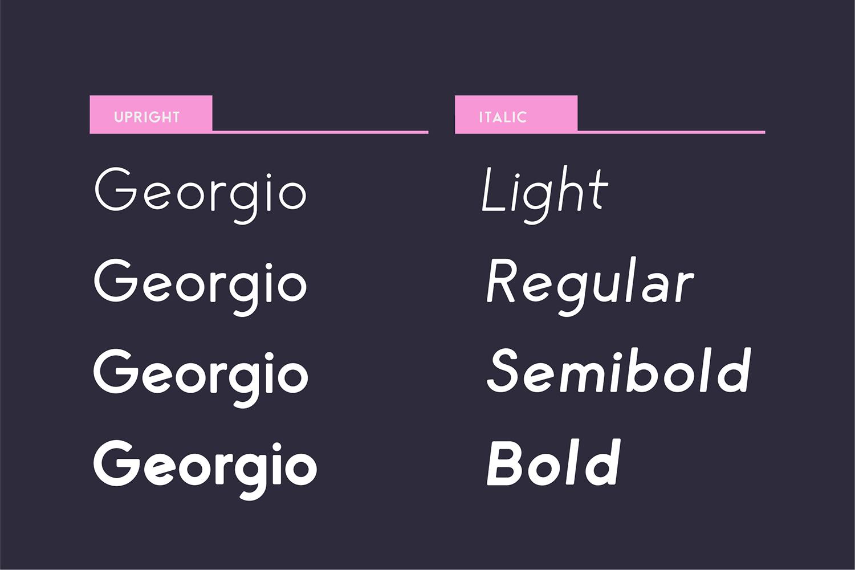 George Round 8 Fonts Round Edge Geometric Typeface example image 9