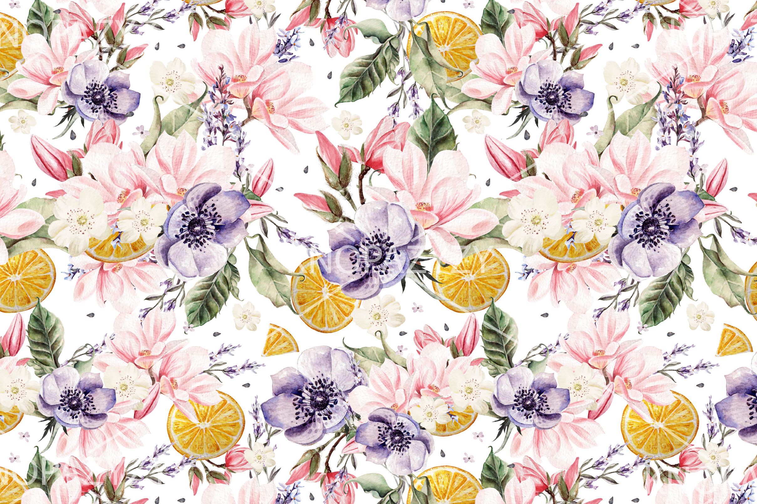 6 Hand Drawn Watercolor PATTERNS example image 3