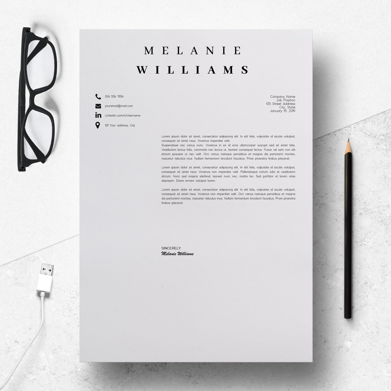 Resume Template Minimalist   CV Template Word - Melanie example image 4