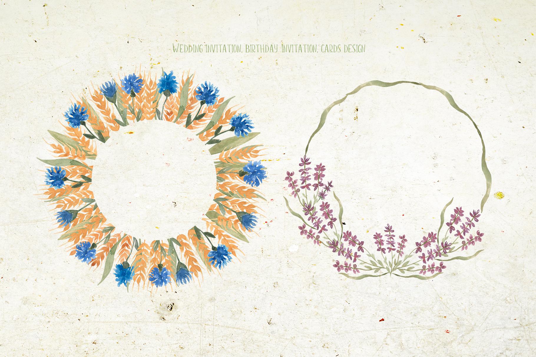 Wildflowers wreaths example image 2