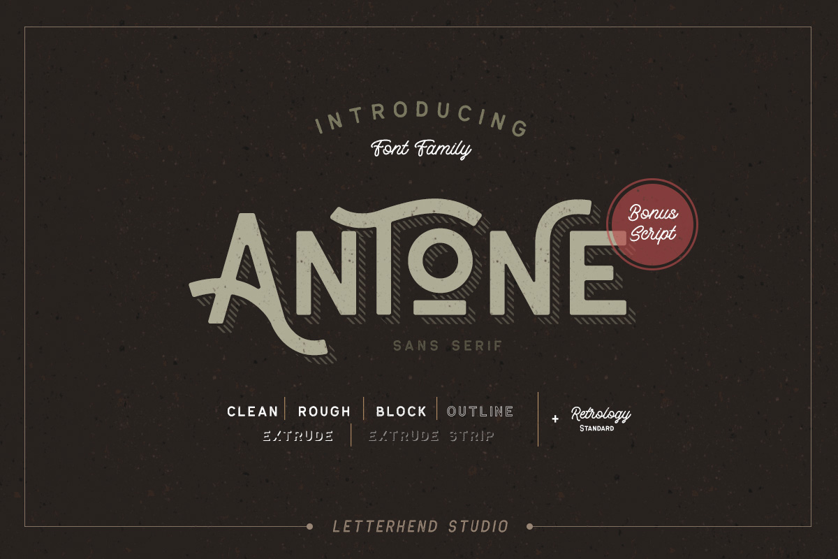 Antone Family - 7 FONTS example image 5