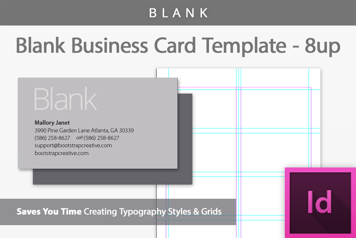 blank business card indesign template example image 1