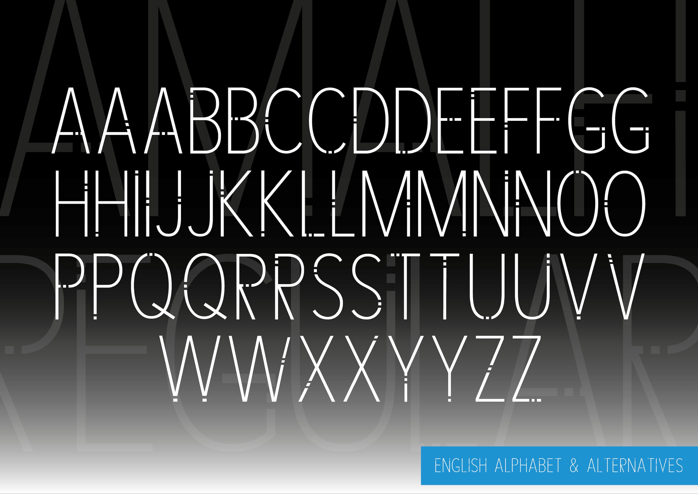 AMALFI - A Modern Font Family example image 9