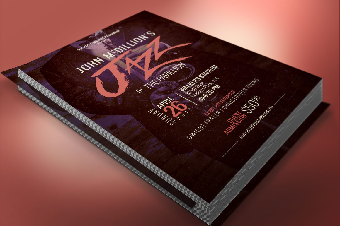 Jazz Concert Flyer Poster Template example image 5